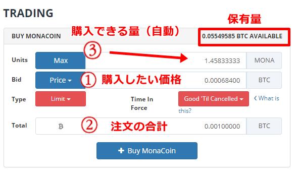 Bittrex,ビットレックス,買い方,購入,方法,操作,方法,日本語