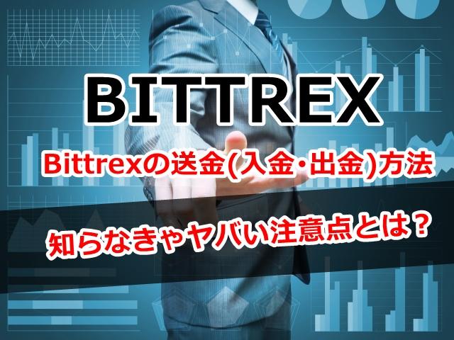 Bittrex,送金,入金,出金,方法,注意点