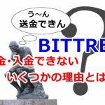 Bittrex,送金,制限,解除方法,出金,入金,できない