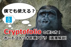 Cryptofolioの使い方!サルでも使えるポートフォリオ管理アプリ【画像解説】