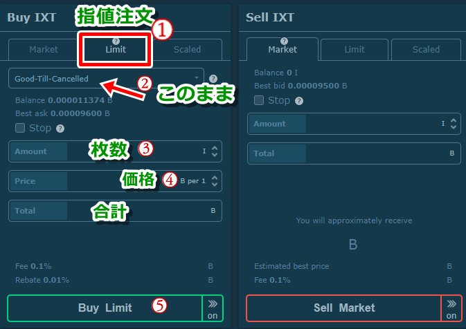 hitbtc,ixt,買い方,btc,手数料,高い,仮想通貨,取引所,売り方