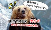 Bittrex(ビットレックス)の売り方を画像解説!売れない原因やキャンセル方法など【総まとめ】