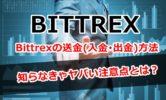 Bittrexの送金(入金・出金)方法と知らなきゃヤバい注意点とは?【画像解説】